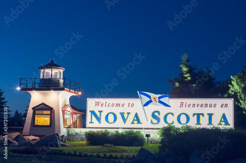 Nova Scotia sign Fototapeta