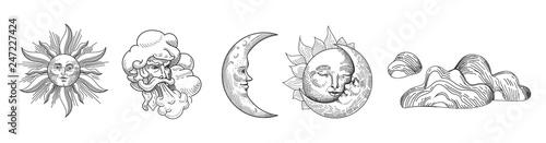 Fotografia Sun and Moon Vintage Collection