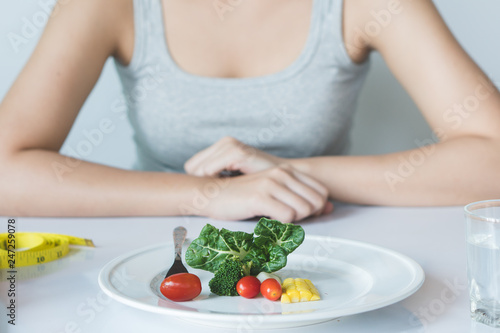 Photo Eat less and eat healthy