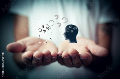 Obraz na płótnie Brainstorming concept, knowledge sharing