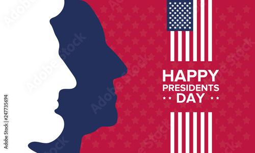Fotografia Happy Presidents day in United States