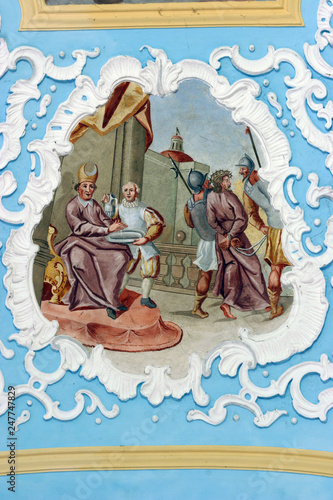 Fototapeta Pontius Pilate washes his hands