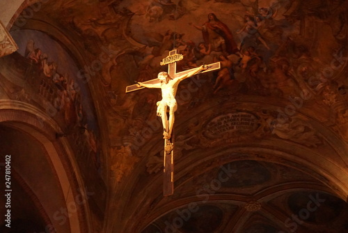 Leinwand Poster Jesus Christ in Cathedral of Asti Italy