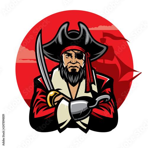 pirate with sword Fototapeta