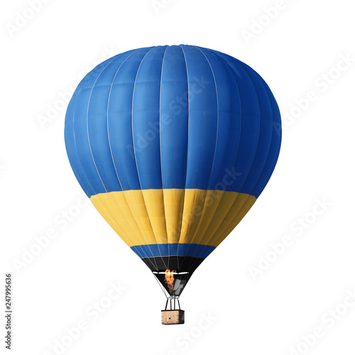 Fotografia Bright colorful hot air balloon on white background