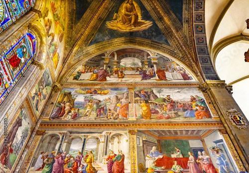 Ghirlandaio Fresco Santa Maria Novella Church Florence Italy Fototapeta