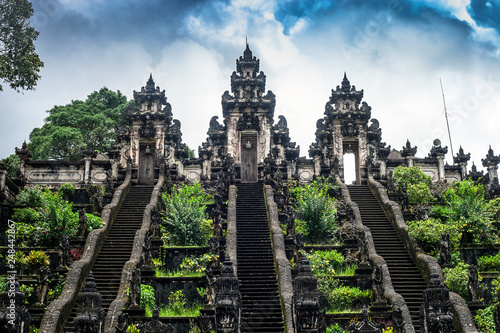 Tablou Canvas Ladders in Pura Lempuyang Luhur temple on Bali, Indonesia
