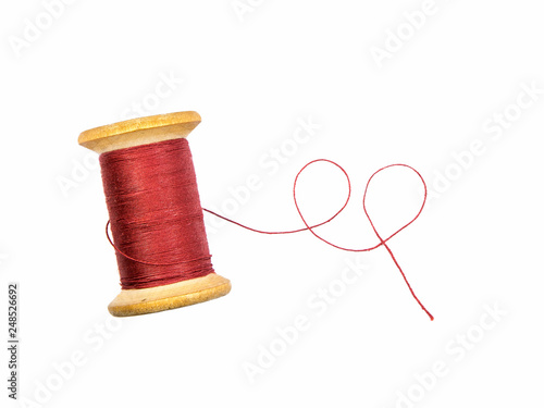 Obraz na plátne sewing threads spool isolated on white
