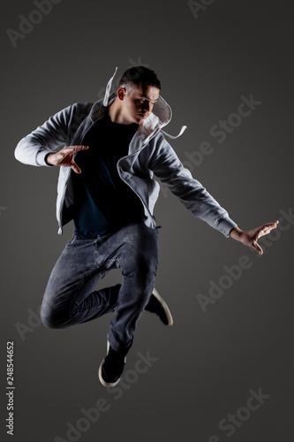 Canvas Print hip hop dancer jumping