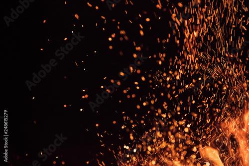 Fotografie, Tablou Burning sparks flying