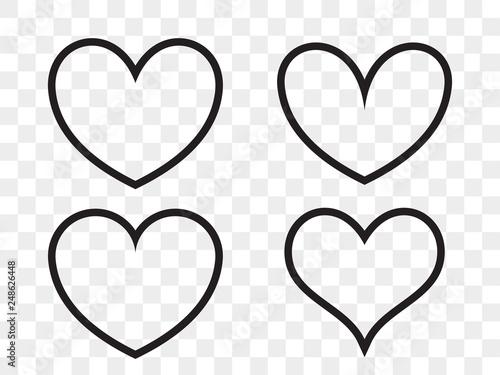 Tablou Canvas Heart linear vector icon