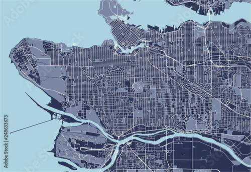 Obraz na plátně map of the city of Vancouver , Canada