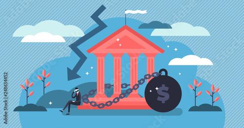 Fotografering National debt vector illustration