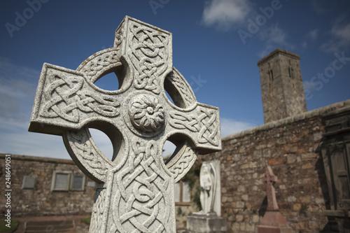 Obraz na plátne St Andrews Cathedral north sea Scotland celtics cemetery