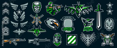 Obraz na płótnie Set of military emblems