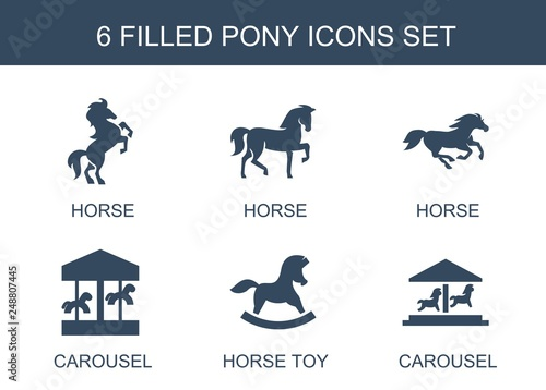 Wallpaper Mural pony icons