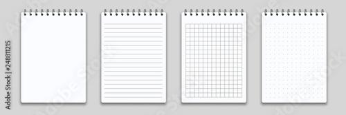 Obraz na płótnie Notebook or memo notepad with binder