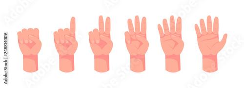 Obraz na płótnie Hand count