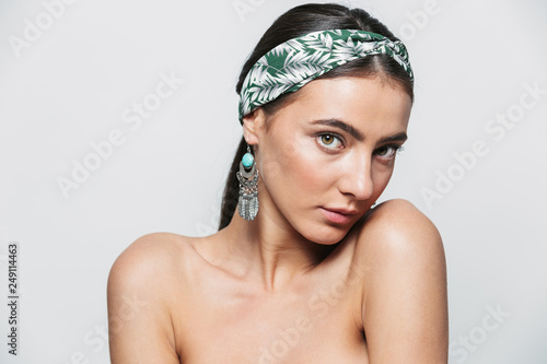 Canvastavla Beauty portrait of a topless young beautiful woman