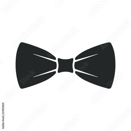 Fotografia Black bow tie icon