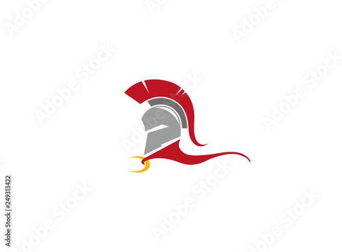 Fototapeta Creative Spartan Helmet Logo