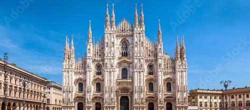 Fotografie, Obraz Milan Cathedral or Duomo di Milano, Italy. Panorama of Square.