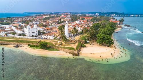 Photo Aerial. Galle city view. Sri Lanka.