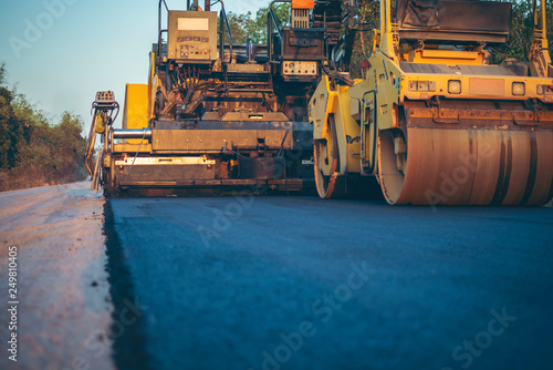 Fotomural Road works in the city