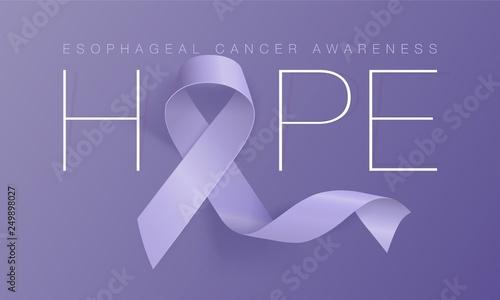 Fotografia Esophageal Cancer Awareness Calligraphy Poster Design
