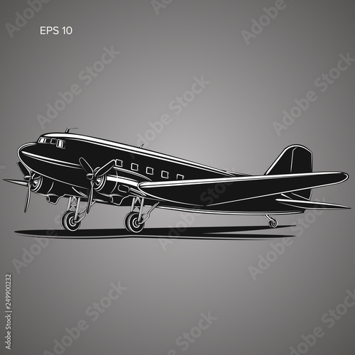 Old vintage piston engine airliner. фототапет