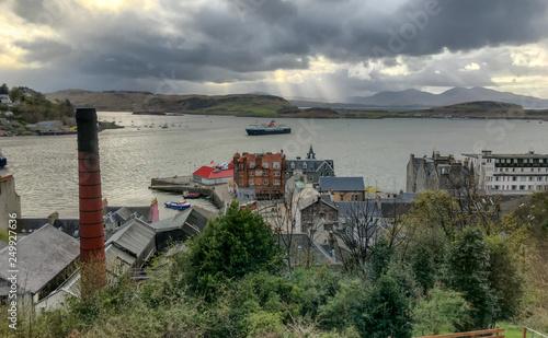 Fotografie, Obraz Blick auf Hafen von Oban, Hochland von Schottland
