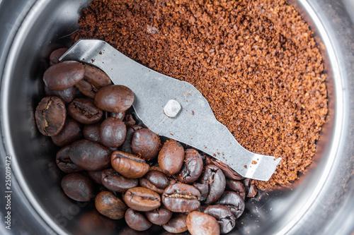 Fototapeta A metal electric coffee grinder