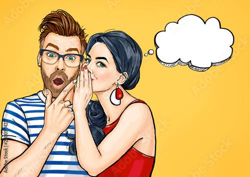 Obraz na płótnie Gossip couple