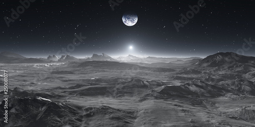 Valokuva Earth from the Moon