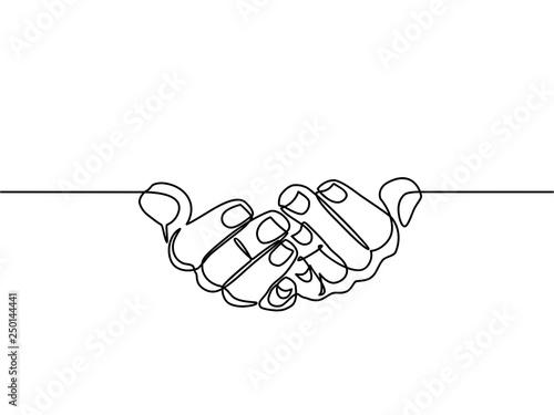 continuous line drawing of prayer hand Fototapeta