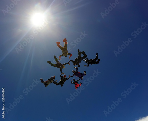 Skydiving group formation