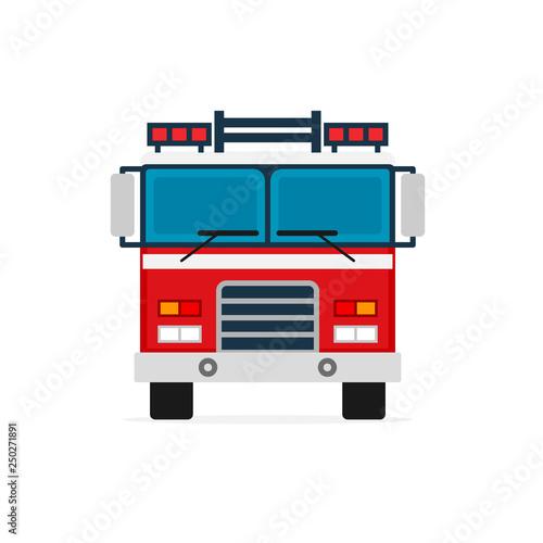 Fotografia Firetruck front view icon