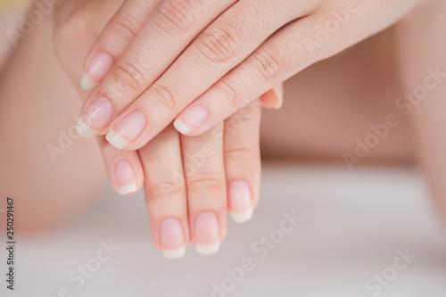 Close-Up fingernail of women, Concept of health care of the fingernail Fototapeta