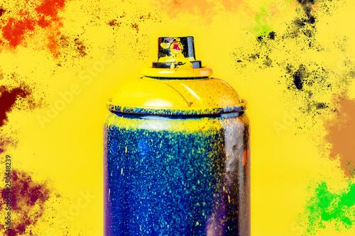 Fototapeta premium sztuka uliczna w sprayu i kolor splash na tle koncepcji b