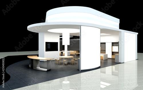 Fotografie, Obraz 3d render exhibition stand