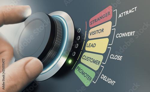 Obraz na płótnie Successful Inbound Marketing Campaign Concept