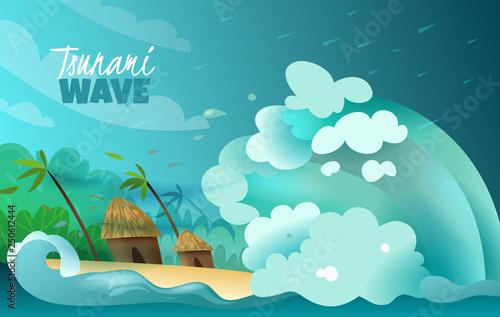 Fotografie, Obraz Natural Disasters Tsunami Poster