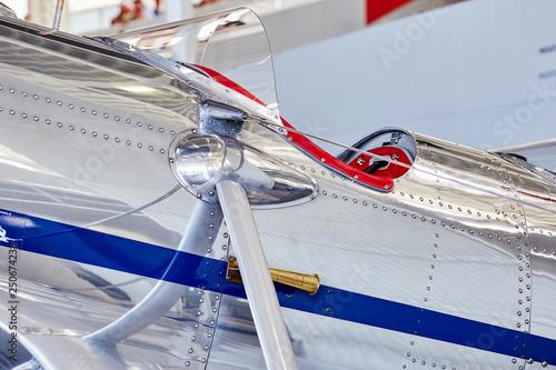 Canvas Print Cockpit eines einsitzigen Motorflugzeuges