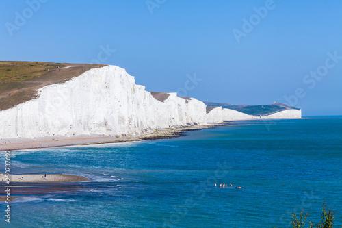 White cliffs of Dover background image Fototapeta