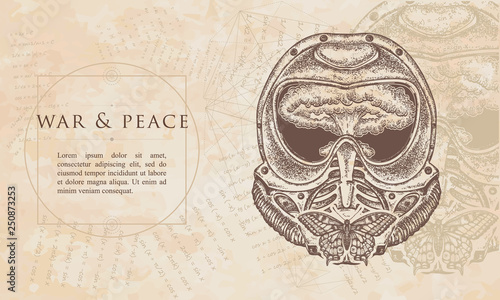 Canvas Print War and peace
