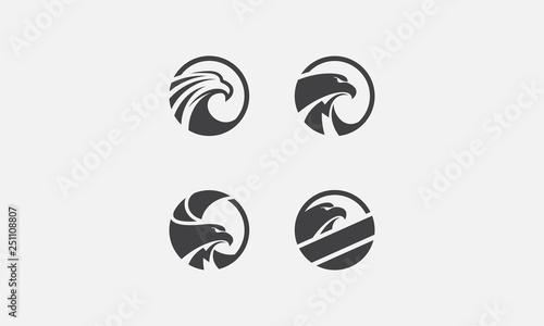 Canvas eagle pack logo, eagle icon, eagle head, vector