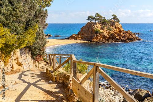 Cami de Ronda, a Coastal Path along Costa Brava, Catalonia Fototapeta