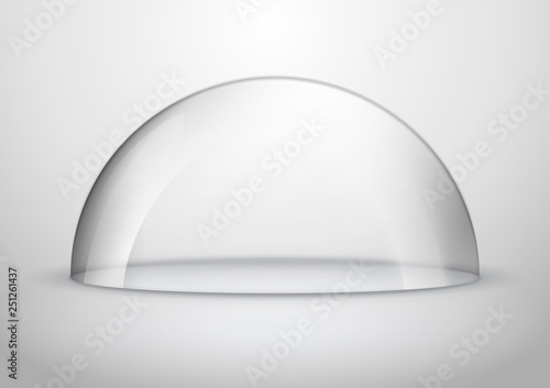 Fotomural Glass dome container mock-up