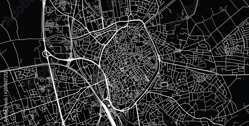 Photo Urban vector city map of Bruges, Belgium