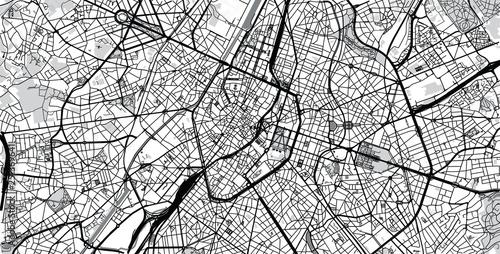 Obraz na plátně Urban vector city map of Brussels, Belgium